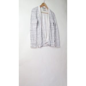 Scoth and Soda grey french terry cardigan top P